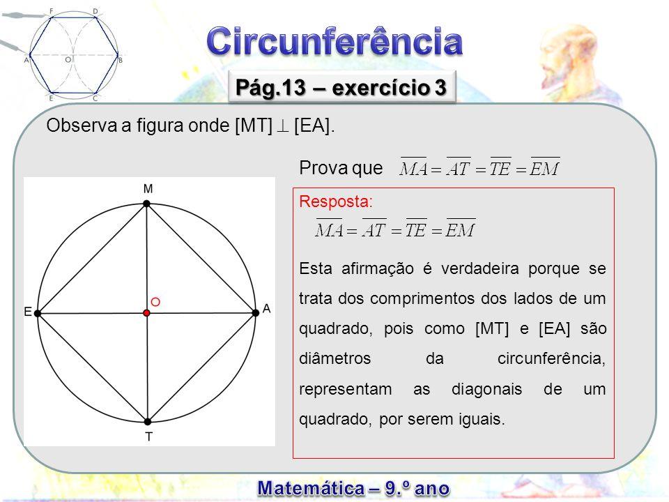 Observa a figura onde [MT]  [EA].